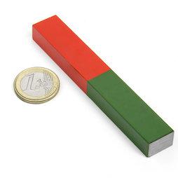 EDU-8, Barra lunga, 100 x 15 mm, in AlNiCo5, smaltata in rosso e verde