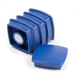 BX-SQ30-BULK/blue, Boston Xtra viereckig 25 Stück, Großpackung mit 25 Büromagneten Neodym