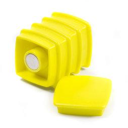 BX-SQ30-BULK/yellow, Boston Xtra viereckig 25 Stück, Großpackung mit 25 Büromagneten Neodym
