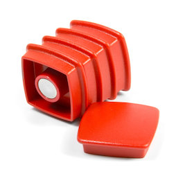 BX-SQ30-BULK/red, Boston Xtra viereckig 25 Stück, Großpackung mit 25 Büromagneten Neodym