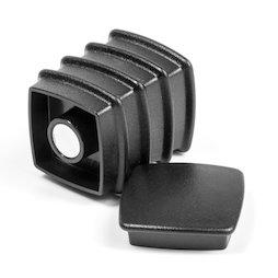 BX-SQ30/black, Boston Xtra carré, set de 5 aimants de bureau néodyme, carré, noir