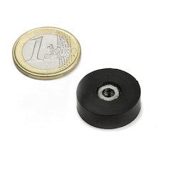 ITNG-16, magnete gommato con base in acciaio, con filettatura M4, Ø 20 mm