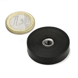 ITNG-32, magnete gommato con base in acciaio, con filettatura M6, Ø 36 mm