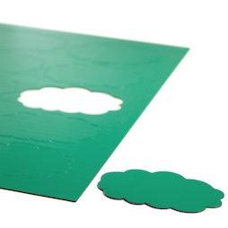 BA-014CL/green, Simboli magnetici nuvola, per lavagne bianche & lavagne per la progettazione, 10 simboli per foglio A4, verde