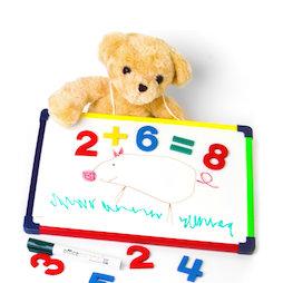 KMWB-2435, Lavagna bianca per bambini 24 x 35 cm, per dipingere, giocare, scrivere & imparare, magnetica