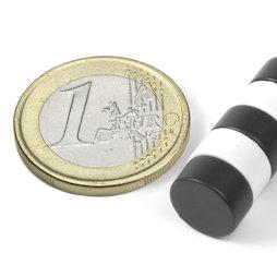 S-10-05-E, Disco magnetico Ø 10 mm, altezza 5 mm, neodimio, N42, rivestito in resina epossidica