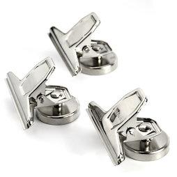 M-86, Mollette magnetiche per lettere, argento, in metallo, set da 3