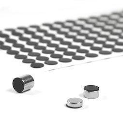 M-SIL-10, Dischi di silicone Ø 10 mm, autoadesivi, 136 pezzi per set