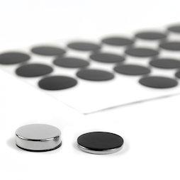 M-SIL-20, Dischi di silicone Ø 20 mm, autoadesivi, 36 pezzi per set