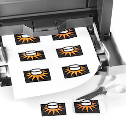 MIP-A4-01, Carta magnetica lucida, da stampare, formato A4, set da 10