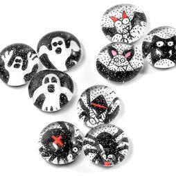 LIV-129, Halloween, magneti da frigo fatti a mano, set da 3