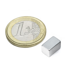 Q-10-06-06-Z, Parallelepipedo magnetico 10 x 6 x 6 mm, neodimio, N45, zincato