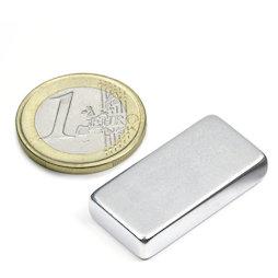 Q-30-15-06-Z, Parallelepipedo magnetico 30 x 15 x 6 mm, neodimio, 42SH, zincato