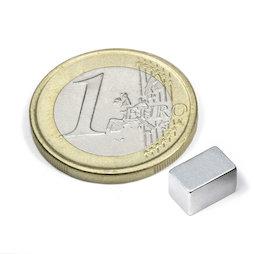 Q-08-05-05-Z, Parallelepipedo magnetico 8 x 5 x 5 mm, neodimio, N45, zincato