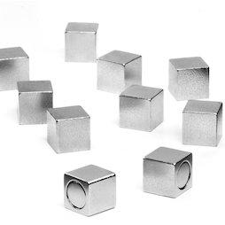 M-OF-W08, Aimants de bureau avec enveloppe métallique, aimants en néodyme, longueur de l'arête 8 mm