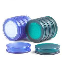 M-OF-BRD25, Tafelmagnete rund, Neodym-Magnete mit Kunststoffkappe, beidseitig haftend