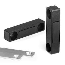 M-FURN-03, Giunzione magnetica stretta per mobili, in metallo, con contropiastra