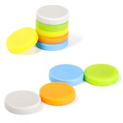 M-95, Magneti con rivestimento di silicone, magnetici su entrambi i lati, set da 10, colori assortiti