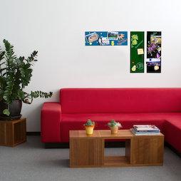 GMBB-2060, Glas-Magnettafel rechteckig, 20 x 60 cm, in verschiedenen Farben