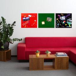GMBB-4550, Tableau mémo en verre carré, 45 x 50 cm, dans différentes couleurs