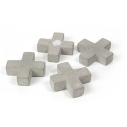 LIV-97/cross, Concrete magnets, crosses, set of 4