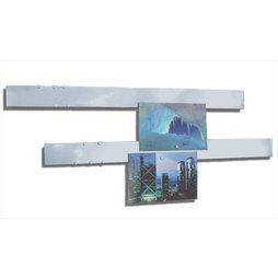 FO-5, Barre magnetiche acciaio inox 50 cm, set da 2, supporto per magneti, con montaggio magnetico, incl. 12 potenti magneti