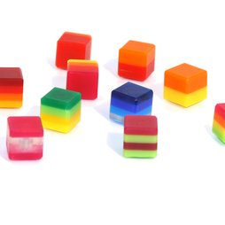 AG-02, Color Cube, deco magnets colour, made of acrylic glass