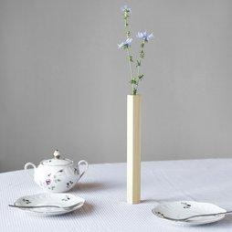 LIV-33, Vaso magnetico acero, vaso in legno di acero, aderisce magneticamente su una lastra metallica, in confezione regalo