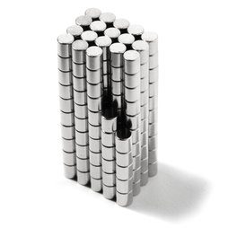 S-02-02-N, Disco magnetico Ø 2 mm, altezza 2 mm, neodimio, N48, nichelato