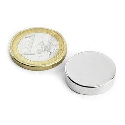 Disco magnetico Ø20mm, altezza5mm