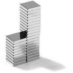 Q-10-10-02-N, Parallelepipedo magnetico 10 x 10 x 2 mm, neodimio, N45, nichelato