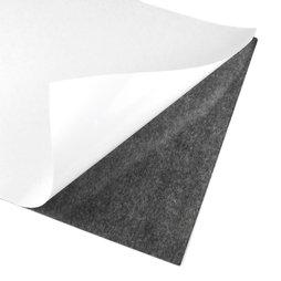 MS-A4-STIC, Foglio magnetico autoadesivo, formato A4, da ritagliare & incollare, grigio-nero