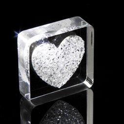 LIV-38, Diamond Heart, Kühlschrankmagnet Herz, mit Swarovski-Kristallen