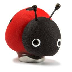 LIV-41/ladybug, Magneti handmade, pezzi unici in fimo in un set da 4, coccinella