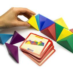 M-41, Cubo Tangram, compuesto de 24 tetraedros magnéticos, con 20 tarjetas