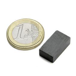 FE-Q-18-10-06, Parallelepipedo magnetico 18 x 10 x 6 mm, ferrite, Y35, senza rivestimento