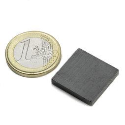 FE-Q-20-20-03, Parallelepipedo magnetico 20 x 20 x 3 mm, ferrite, Y35, senza rivestimento