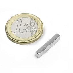 Q-20-04-03-N, Parallelepipedo magnetico 20 x 4 x 3 mm, neodimio, N48, nichelato