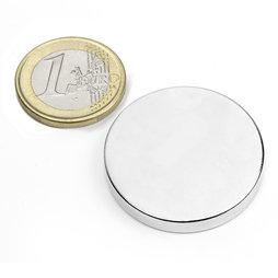 S-35-05-N, Disco magnetico Ø 35 mm, altezza 5 mm, neodimio, N42, nichelato