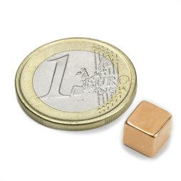 W-07-K, Cubo magnetico 7 mm, neodimio, N42, ramato