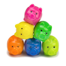 LIV-62, Piggies, deco magnets in the shape of piggies, set of 6
