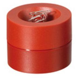 M-CLIP/red, Büroklammerspender magnetisch, mit starkem Zentralmagnet, aus Kunststoff, rot